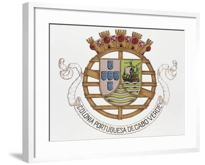 Coat of Arms of Portuguese Colony of Cape Verde--Framed Giclee Print