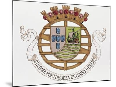 Coat of Arms of Portuguese Colony of Cape Verde--Mounted Giclee Print