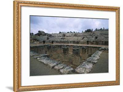 Spain, Andalusia, Ancient Italica, Central Arena Underground Spaces of Amphitheatre--Framed Giclee Print