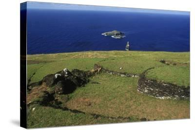 Chile, Easter Island, Rapa-Nui National Park--Stretched Canvas Print