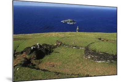 Chile, Easter Island, Rapa-Nui National Park--Mounted Giclee Print