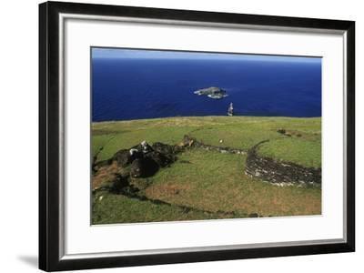 Chile, Easter Island, Rapa-Nui National Park--Framed Giclee Print