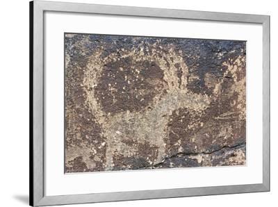 Mongolia, Gobi Desert, Rock Engraving--Framed Giclee Print