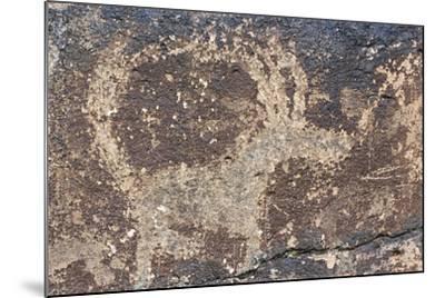 Mongolia, Gobi Desert, Rock Engraving--Mounted Giclee Print