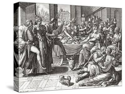 Debauchery and Licentiousness in the 16th Century--Stretched Canvas Print