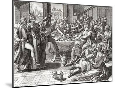 Debauchery and Licentiousness in the 16th Century--Mounted Giclee Print