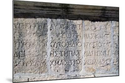Greek Inscription, Jerash, Jordan BC--Mounted Giclee Print
