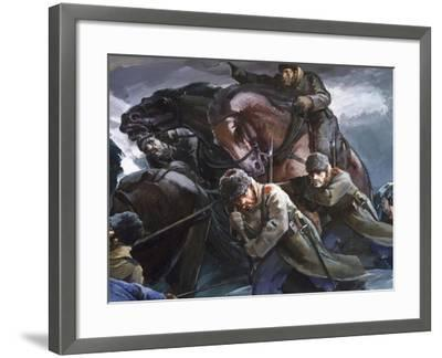 General Gurko Passing Balkans with His Troops, Detail, Russo-Turkish War--Framed Giclee Print
