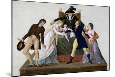 Divorce, Reconciliation--Mounted Giclee Print