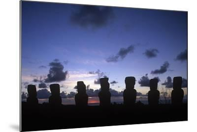 Chile, Easter Island, Rapa-Nui National Park, Ahu Akivi--Mounted Giclee Print
