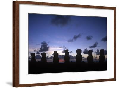 Chile, Easter Island, Rapa-Nui National Park, Ahu Akivi--Framed Giclee Print