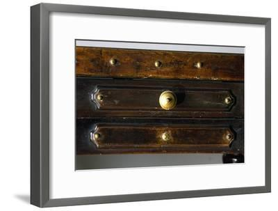 Detail of Drawers of Walnut Library Table, Made in Bologna, Italy, 16th Century--Framed Giclee Print