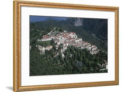 Italy, Lombardy, Varese, Sacro Monte, Aerial View--Framed Giclee Print