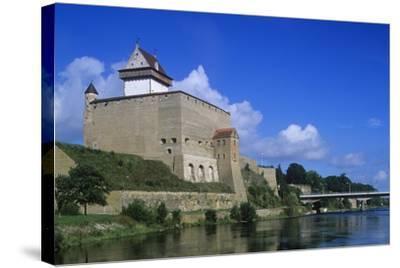 Estonia, Narva, 13th Century Castle on Narva River--Stretched Canvas Print
