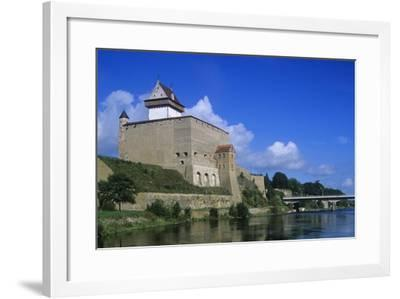 Estonia, Narva, 13th Century Castle on Narva River--Framed Giclee Print
