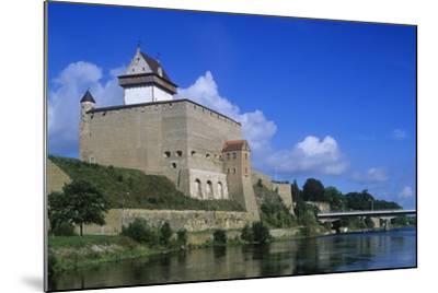 Estonia, Narva, 13th Century Castle on Narva River--Mounted Giclee Print