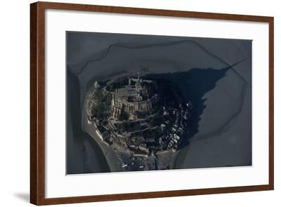France, Normandy, Aerial View of Le Mont-Saint-Michel--Framed Giclee Print