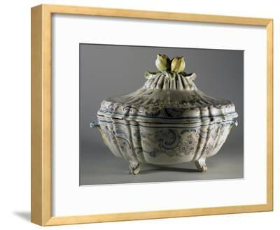 Tureen Decorated with Embossed Plant Motifs and Fruit, Majolica--Framed Giclee Print