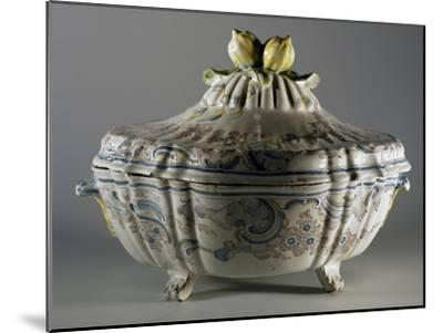 Tureen Decorated with Embossed Plant Motifs and Fruit, Majolica--Mounted Giclee Print
