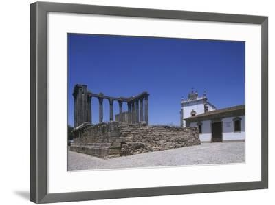 Portugal, Alentejo Region, Alto Alentejo, Evora, Roman Temple of Diana--Framed Giclee Print