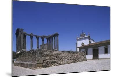 Portugal, Alentejo Region, Alto Alentejo, Evora, Roman Temple of Diana--Mounted Giclee Print