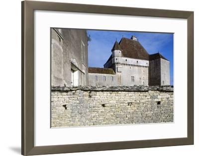 View of Chateau De Rosieres, Near Saint-Seine-Sur-Vingeanne, Burgundy, France, 14th-15th Century--Framed Giclee Print