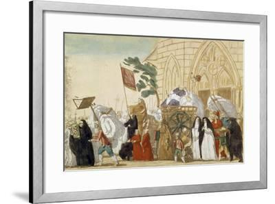 Caricature Depicting the Departure of the Clergy During the French Revolution--Framed Giclee Print