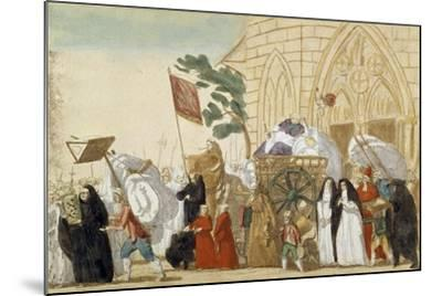 Caricature Depicting the Departure of the Clergy During the French Revolution--Mounted Giclee Print