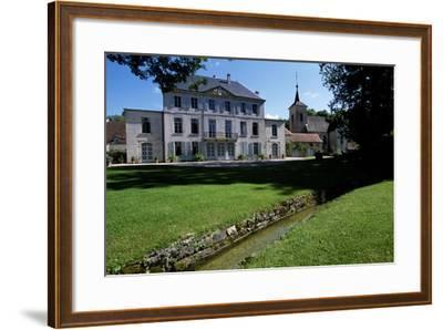 View of Chateau De Salans, Franche-Comte, France--Framed Giclee Print