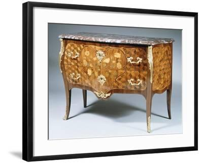 Louis XV Style Chest of Drawers with Kingwood, Madagascar Rosewood and Amaranth Inlays, France--Framed Giclee Print