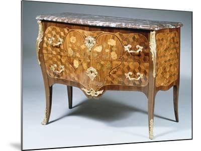 Louis XV Style Chest of Drawers with Kingwood, Madagascar Rosewood and Amaranth Inlays, France--Mounted Giclee Print