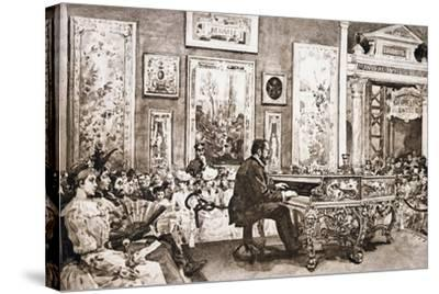 Mr Delaborde Giving Concert on Pleyel Piano, Exposition Universelle, 1889--Stretched Canvas Print