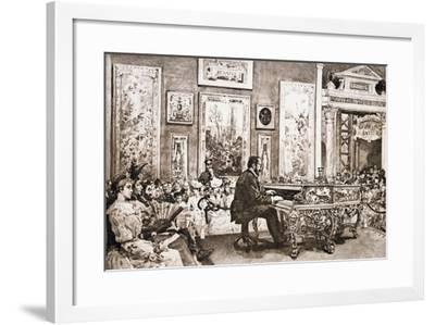 Mr Delaborde Giving Concert on Pleyel Piano, Exposition Universelle, 1889--Framed Giclee Print