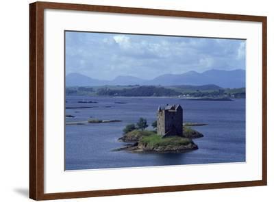Castle Stalker on Loch Laich, Scotland, UK--Framed Giclee Print
