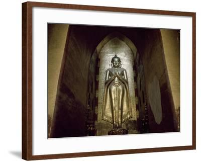 Myanmar, Bagan, Divinity Statue in Ananda Temple, 11th Century--Framed Giclee Print
