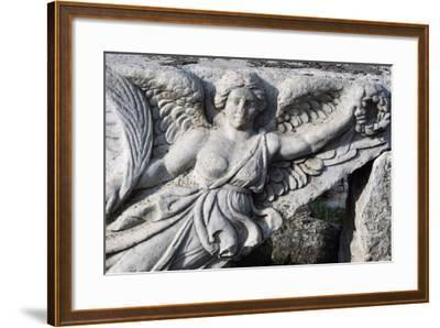 Detail of Frieze in Ephesus, Turkey, Greek-Roman Civilization--Framed Giclee Print