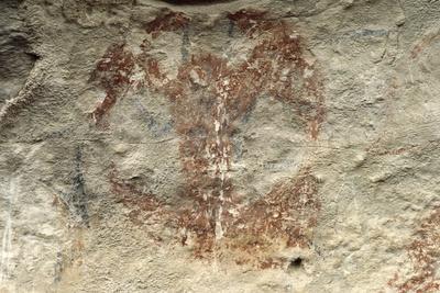 New Zealand, Canterbury, Duntroon, Maori Rock Paintings--Framed Giclee Print