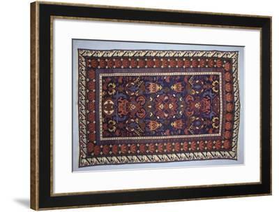 Rugs and Carpets: Azerbaijan - Bidjov Carpet--Framed Giclee Print