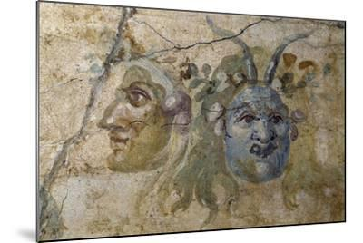 Satirical Masks from House of Farnesina, Rome, Italy BC--Mounted Giclee Print