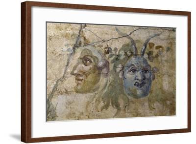 Satirical Masks from House of Farnesina, Rome, Italy BC--Framed Giclee Print