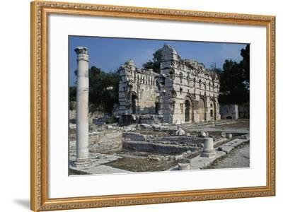 Area of the Gymnasium and the East Wall of the Frigidarium, North Bath--Framed Giclee Print