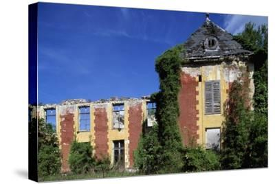 Castle of Coupvray Ruins, Ile-De-France, France, 16th-17th Century--Stretched Canvas Print