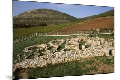 Italy, Sardinia Region, Sassari Province, Palmavera, Ruins of Nuragic Village--Mounted Giclee Print