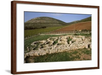 Italy, Sardinia Region, Sassari Province, Palmavera, Ruins of Nuragic Village--Framed Giclee Print