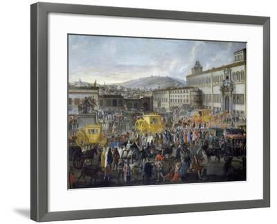Arrival of Ambassador of Venice, Nicholas Duodo at Quirinale Palace, 1714, Detail, Italy--Framed Giclee Print