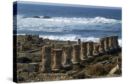 Ruins of Roman Baths, Greco-Roman City of Apollonia, Marsa Susa, Cyrenaica, Libya--Stretched Canvas Print