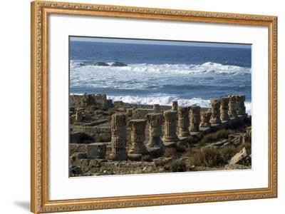 Ruins of Roman Baths, Greco-Roman City of Apollonia, Marsa Susa, Cyrenaica, Libya--Framed Giclee Print
