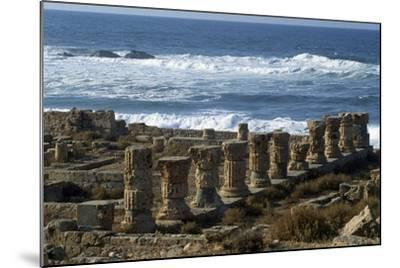 Ruins of Roman Baths, Greco-Roman City of Apollonia, Marsa Susa, Cyrenaica, Libya--Mounted Giclee Print