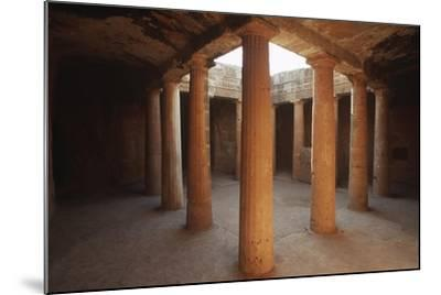 Cyprus, Paphos, Tombs of Kings, Doric Columns--Mounted Giclee Print