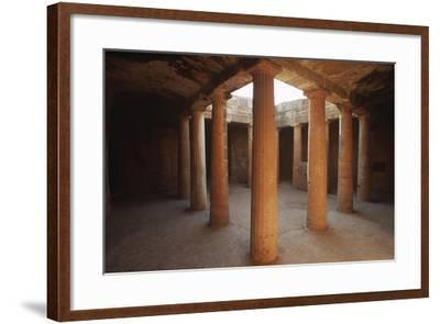 Cyprus, Paphos, Tombs of Kings, Doric Columns--Framed Giclee Print